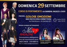 29/09/2019 - Corso di Portamento a Barletta - Miss Magazine & Beautiful Day