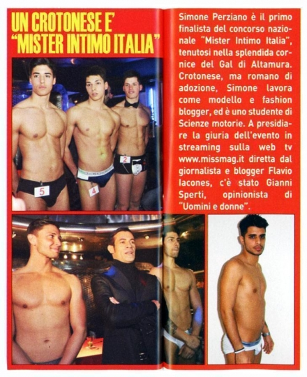 Un crotonese è Mister Intimo Calabria - Miss Magazine & Beautiful Day