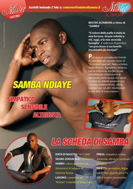 Samba Ndiaye, dal podio di Mister Altamura 2011 a Star del Grande Fratello 13! - Miss Magazine & Beautiful Day