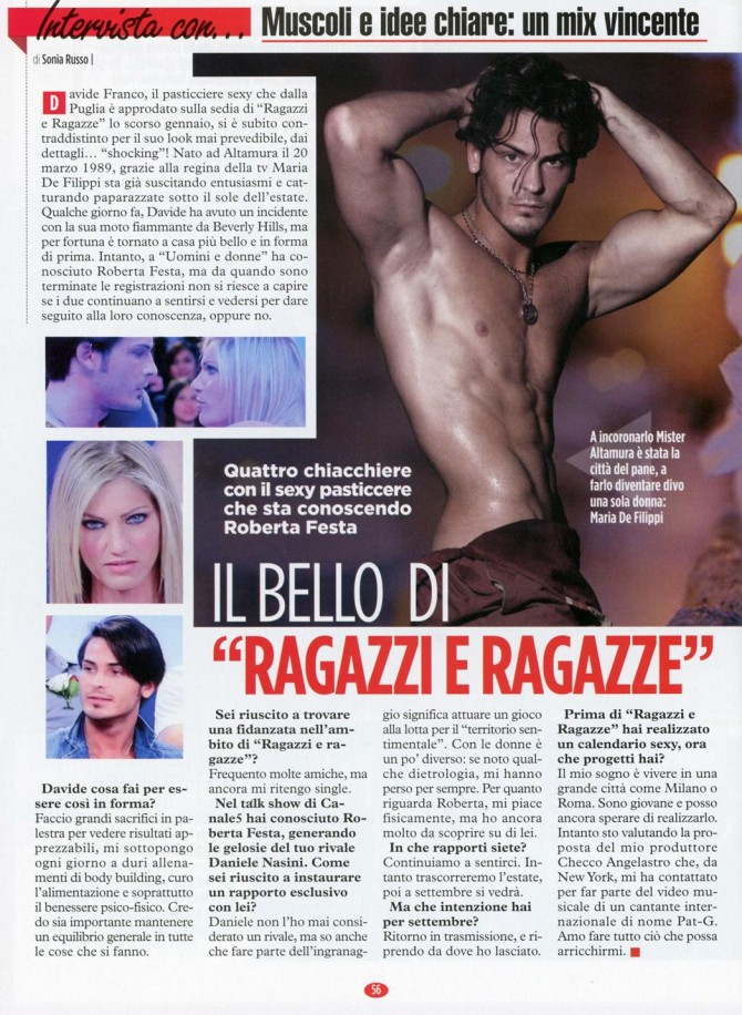 Davide Franco su Speciali di Eva! - Miss Magazine & Beautiful Day