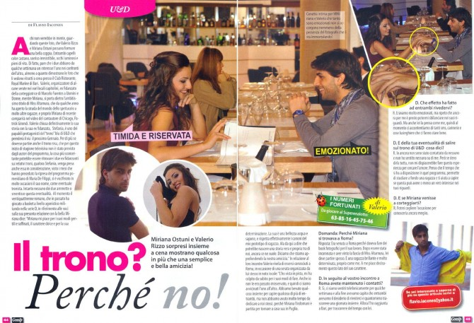 Miriana Ostuni su Gossip! - Miss Magazine & Beautiful Day