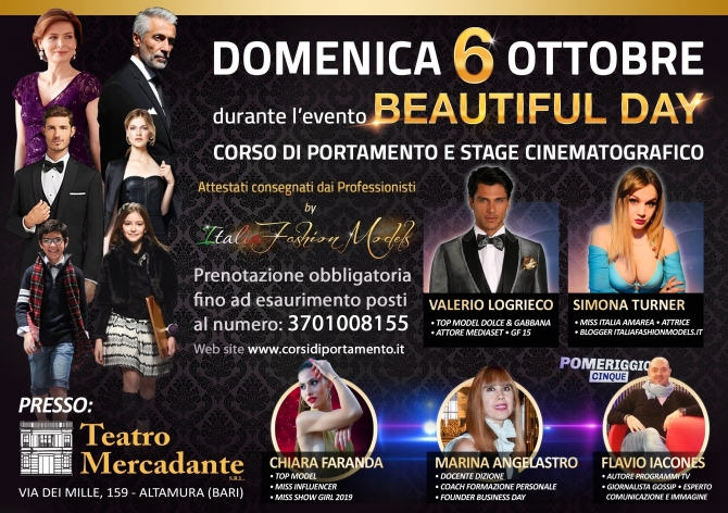 06/10/2019 - Corso di Portamento al Beautiful Day - Miss Magazine & Beautiful Day