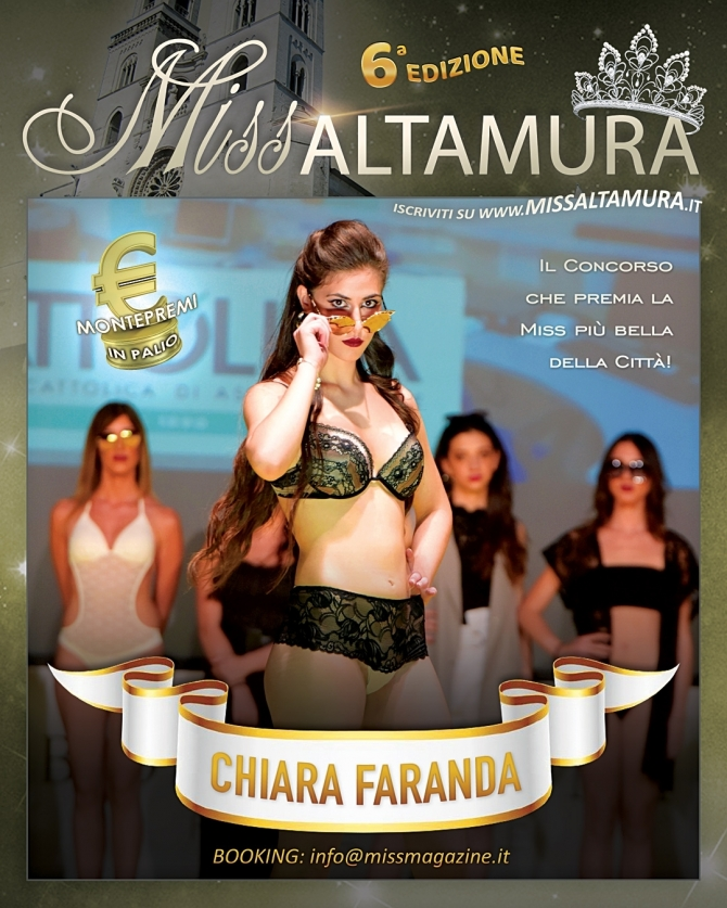 Chiara Faranda è Miss Altamura 6ª edizione - Miss Magazine & Beautiful Day
